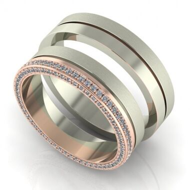 Girly Oldalt köves karikagyűrű pár karikagyűrű