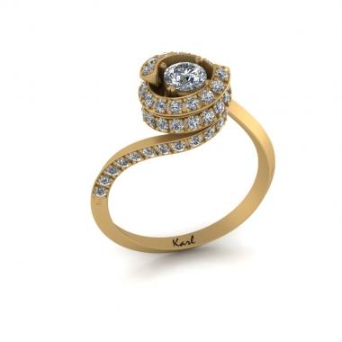 Bolero eljegyzési gyűrű