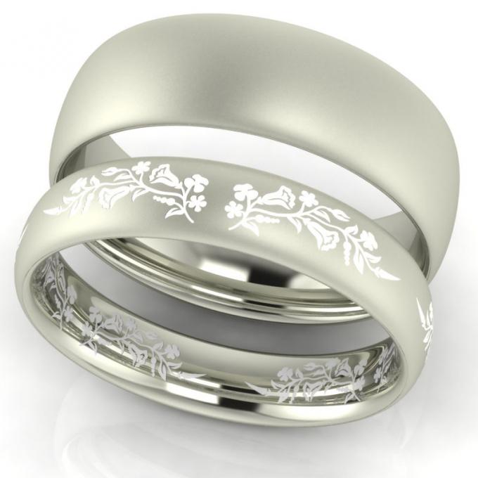 First Love Kalocsai mintás karikagyűrű