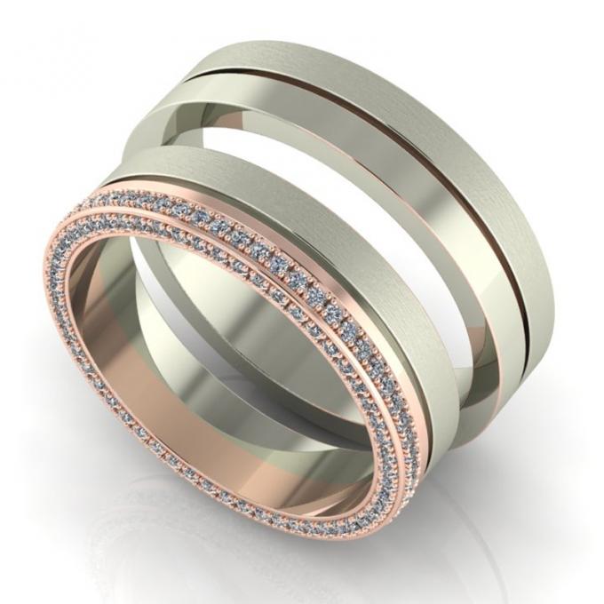 Girly Oldalt köves karikagyűrű pár